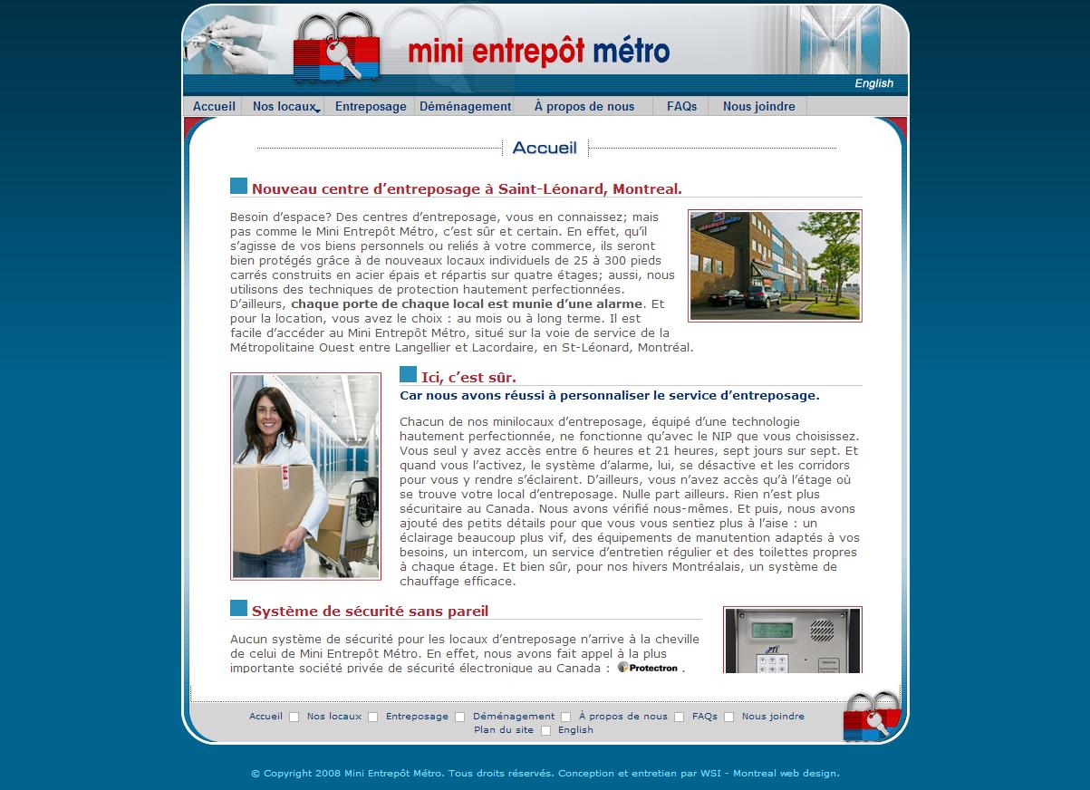 Mini Entrepôt Métro