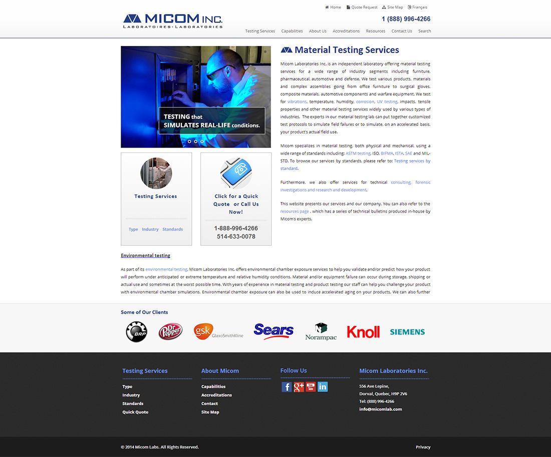 Micom Laboratories Inc.