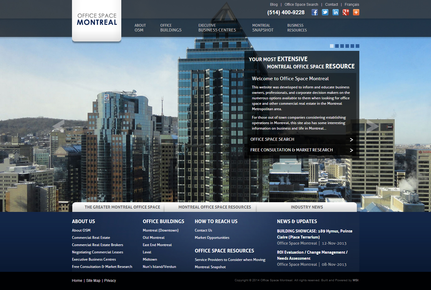 Website Design Portfolio by WSI Montreal
