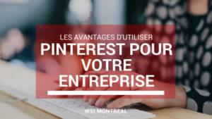 Les avantages de Pinterest pour votre entreprise