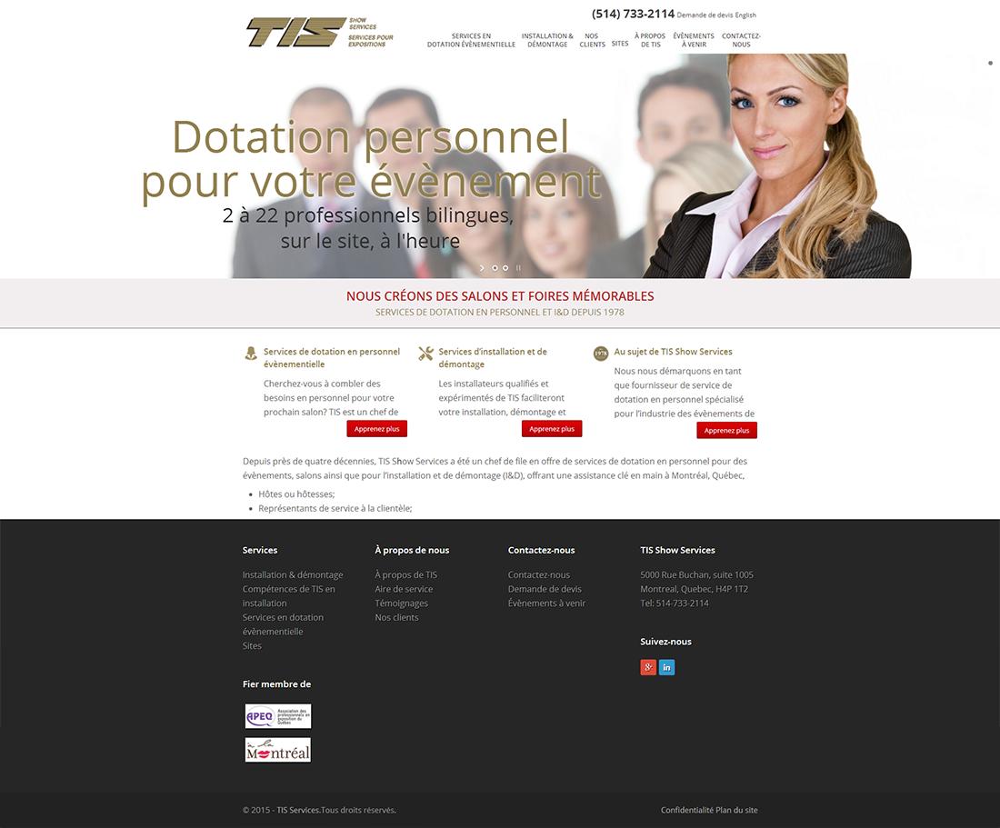 Services pour expositions TIS
